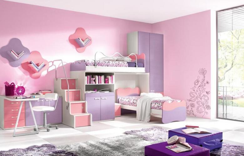 habitacion de tonos rosas