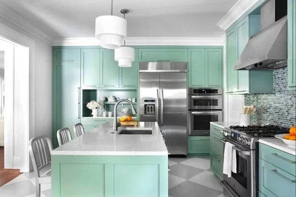 Opciones de colores para una cocina pequeña