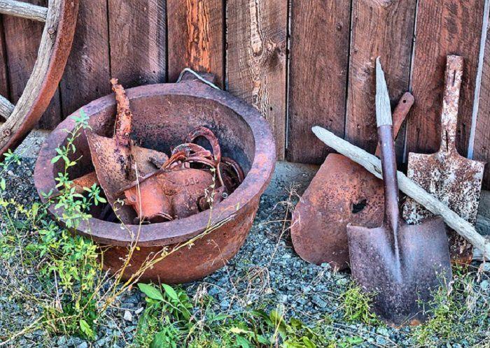 articulos de hogar oxidados