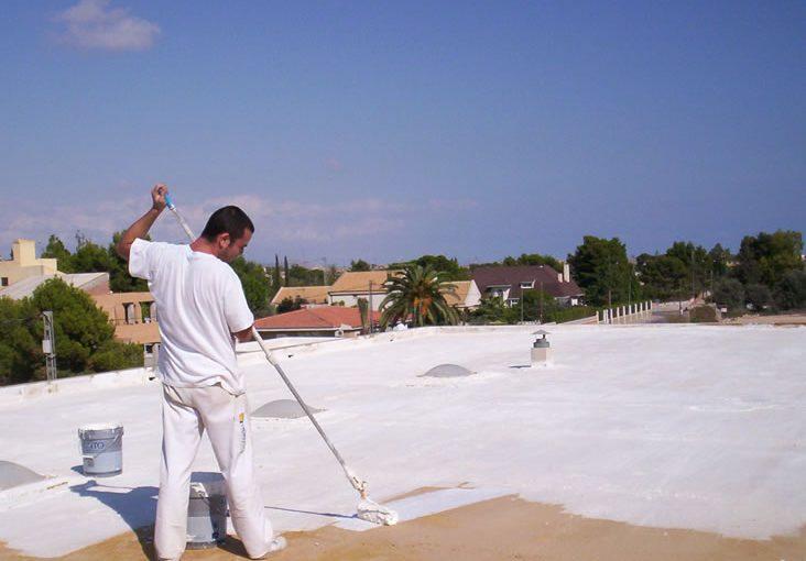 impermeabilizante fibratado blanco para techos