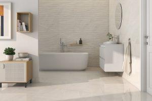 baño beige texturizado