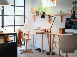 oficina en casa color beige