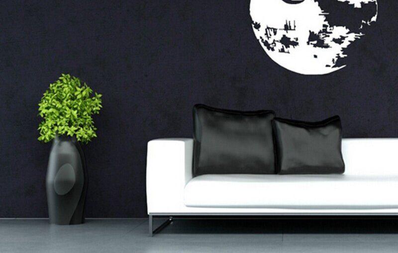 pared decorativa color negro