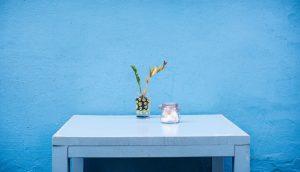 pared decorativa color azul
