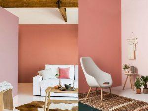pared decorativa color terracota
