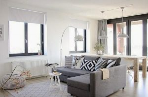 sala color blanco con tonos grises