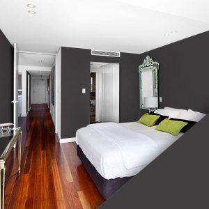 habitación color negro arcilla